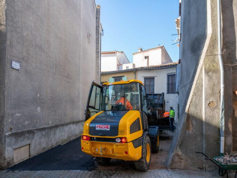 Mairie de besse sur issole - refection placette Gaspard de Besse